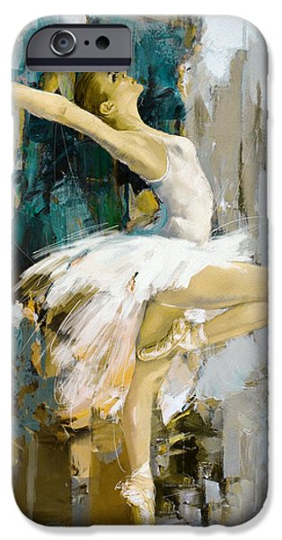 Leonid iPhone Cases - Ballerina 23 iPhone Case by Mahnoor Shah