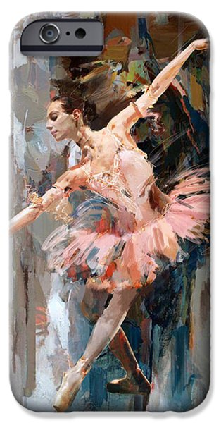 Leonid iPhone Cases - Ballerina 29 iPhone Case by Mahnoor Shah