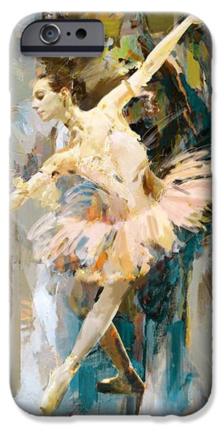 Leonid iPhone Cases - Ballerina 31 iPhone Case by Mahnoor Shah