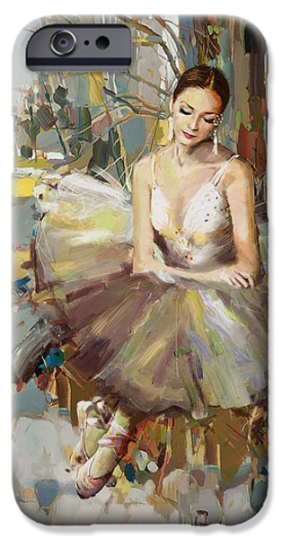 Leonid iPhone Cases - Ballerina 32 iPhone Case by Mahnoor Shah