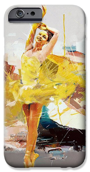 Leonid iPhone Cases - Ballerina 33 iPhone Case by Mahnoor Shah