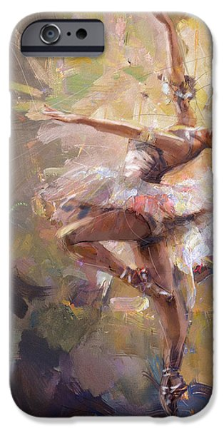 Leonid iPhone Cases - Ballerina 35 iPhone Case by Mahnoor Shah