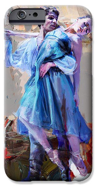 Leonid iPhone Cases - Ballerina 37 iPhone Case by Mahnoor Shah