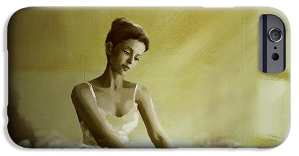 Corporate Art iPhone Cases - Ballerina  iPhone Case by Corporate Art Task Force