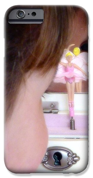 Jewelry Greeting Cards iPhone Cases - Ballerina Dreams iPhone Case by Susan Garren