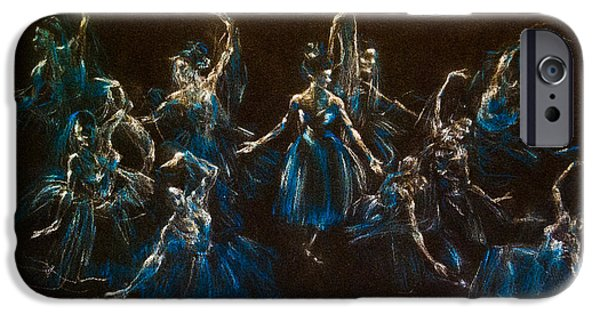 Ballet Dancers iPhone Cases - Ballerina Ghosts iPhone Case by Jani Freimann