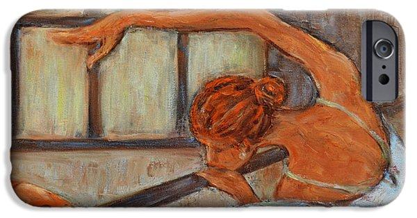 Ballet Dancers iPhone Cases - Ballerina II iPhone Case by Xueling Zou