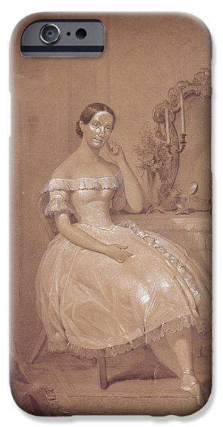 Ballet Dancers iPhone Cases - Ballerina In 19th Century Ballet iPhone Case by Anonymous