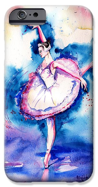 Ballerina Artwork iPhone Cases - Ballerina iPhone Case by Isabel Salvador