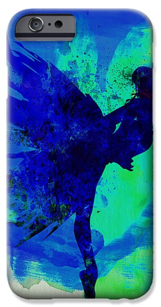 Dating iPhone Cases - Ballerina on Stage Watercolor 2 iPhone Case by Naxart Studio