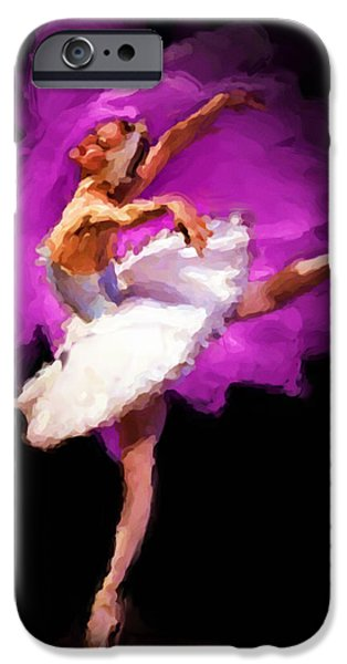 Ballet Of Colors iPhone Cases - Ballerina iPhone Case by Shawn Abel