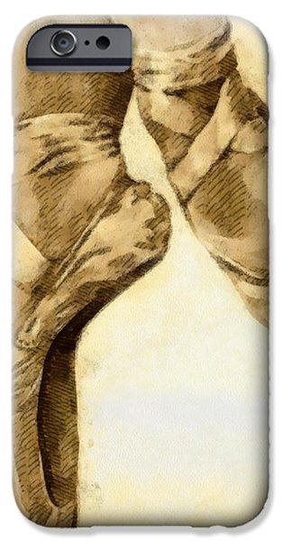 Ballerina shoes iPhone Case by Yanni Theodorou