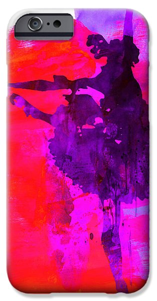 Couple iPhone Cases - Ballerina Watercolor 3 iPhone Case by Naxart Studio