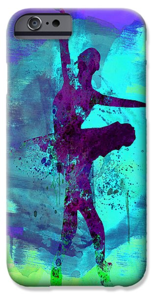 Theatrical iPhone Cases - Ballerina Watercolor 4 iPhone Case by Naxart Studio