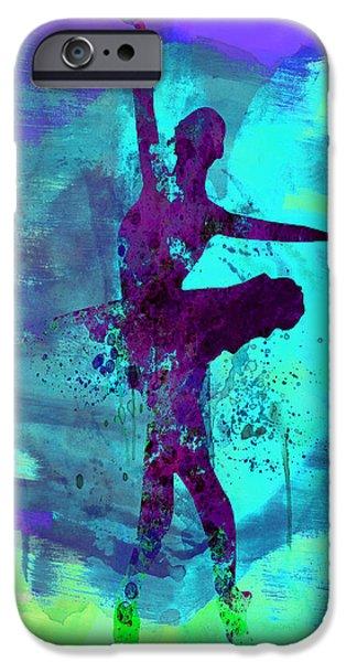 Ballerina Watercolor 4 iPhone Case by Naxart Studio