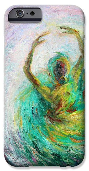 Best Sellers -  - Ballet Dancers iPhone Cases - Ballerina iPhone Case by Xueling Zou