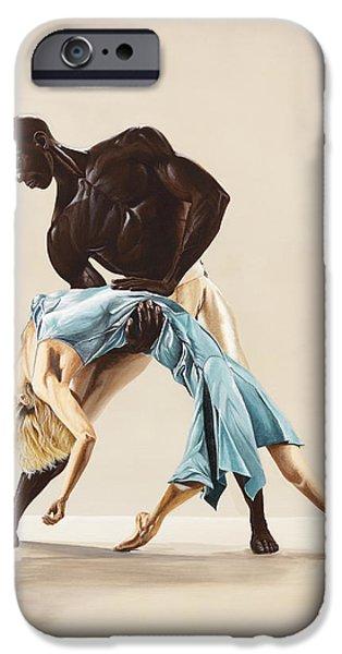 Ballet 1  iPhone Case by Karen  Loughridge KLArt