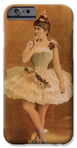 Ballet Digital Art iPhone Cases - Ballet iPhone Case by Aged Pixel