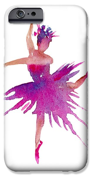 Aceo iPhone Cases - Ballet Arabesque iPhone Case by Amy Kirkpatrick