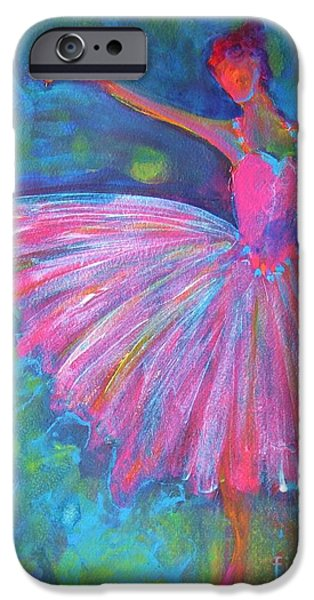 Figures iPhone Cases - Ballet Bliss iPhone Case by Deb Magelssen