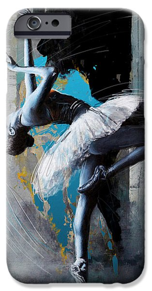 Leonid iPhone Cases - Ballet Dancer 15 iPhone Case by Mahnoor Shah