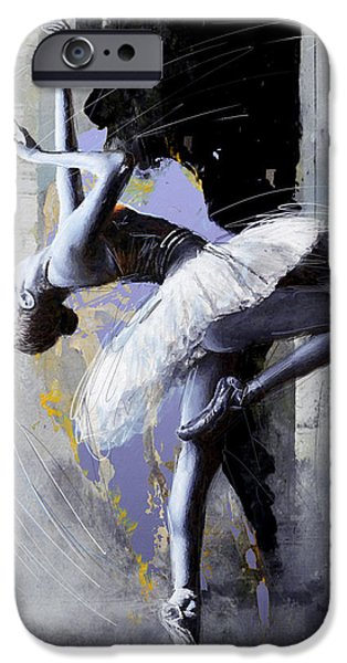 Leonid iPhone Cases - Ballet Dancer 16 iPhone Case by Mahnoor Shah