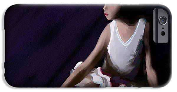 Ballet Dancers iPhone Cases - Ballet Dancer iPhone Case by Michelle Wiarda