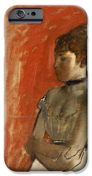 Ballet Dancers iPhone Cases - Ballet Dancer with Arms Crossed iPhone Case by Edgar Degas