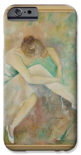 Ballet dancers iPhone Case by Ri Mo