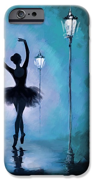 Corporate Art iPhone Cases - Ballet in the Night  iPhone Case by Corporate Art Task Force