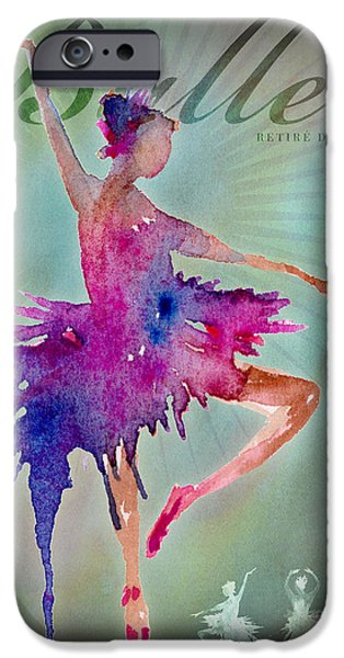 Ballet Digital Art iPhone Cases - Ballet Retire Devant Poster iPhone Case by Amy Kirkpatrick