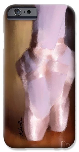 Ballet Slippers 2 iPhone Case by Karen Larter