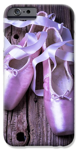 Board iPhone Cases - Ballet slippers iPhone Case by Garry Gay
