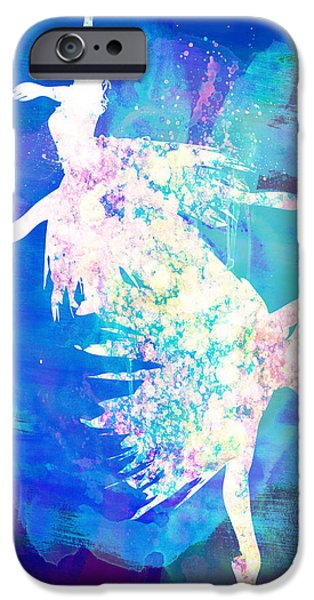Ballet Digital Art iPhone Cases - Ballet Watercolor 2 iPhone Case by Naxart Studio