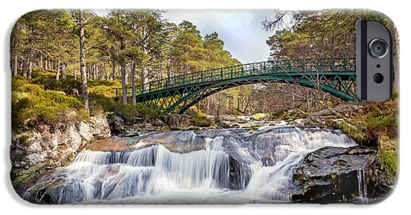 Royal Family Arts iPhone Cases - Ballochbuie Bridge iPhone Case by Mike Stephen