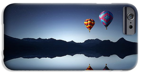 Above iPhone Cases - Ballons iPhone Case by Bess Hamiti