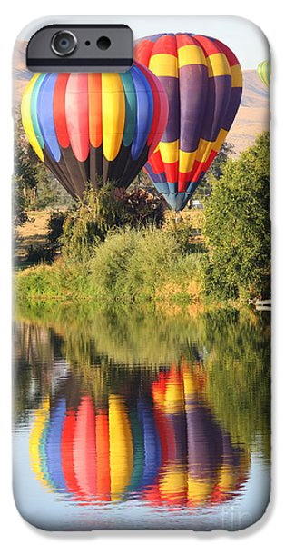 Hot Air Balloon iPhone Cases - Balloon Buddies iPhone Case by Carol Groenen