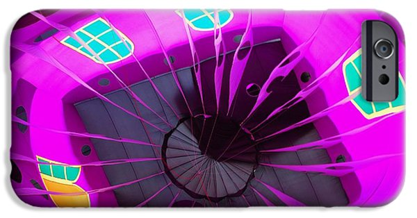 Basket iPhone Cases - Balloon Fantasy 26 iPhone Case by Allen Beatty