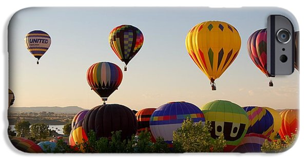 Hot Air Balloon iPhone Cases - Balloon Festival iPhone Case by Christopher James