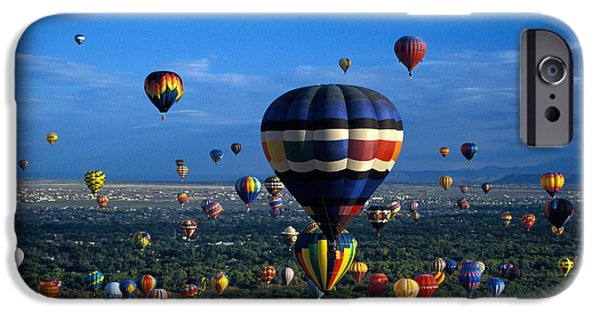 Hot Air Balloon iPhone Cases - Balloon Festival iPhone Case by Mark Newman