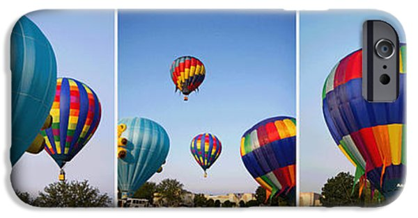 Hot Air Balloon iPhone Cases - Balloon Festival Panels iPhone Case by Betsy A  Cutler
