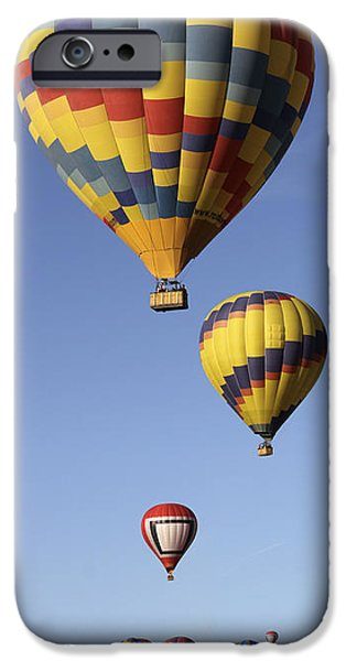 Hot Air Balloons iPhone Cases - Balloon Fiesta 2012 iPhone Case by Mike McGlothlen