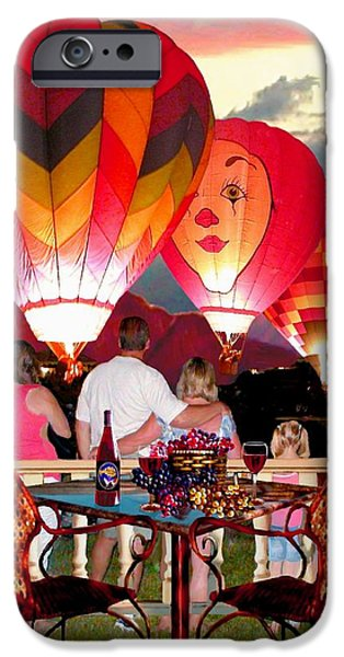 Temecula iPhone Cases - Balloon Glow at Twilight iPhone Case by Ronald Chambers