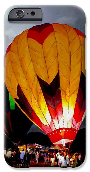 Bandstand iPhone Cases - Balloon Glow iPhone Case by Ronald Chambers