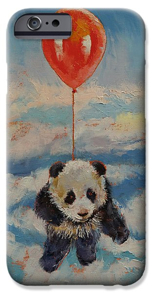 Child iPhone Cases - Balloon Ride iPhone Case by Michael Creese