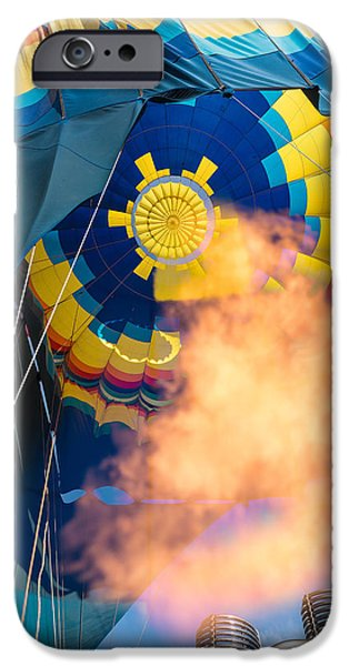 Napa Photographs iPhone Cases - Balloon Rising iPhone Case by Steve Gadomski