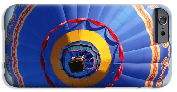 Hot Air Balloon iPhone Cases - Balloon Square 4 iPhone Case by Carol Groenen