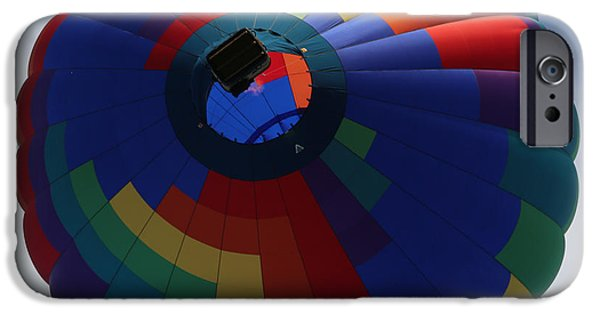 Hot Air Balloon iPhone Cases - Balloon Square 5 iPhone Case by Carol Groenen