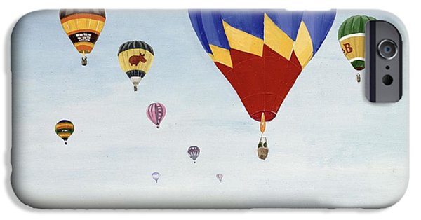 Hot Air Balloon iPhone Cases - Ballooning Over The Cotswolds iPhone Case by Maggie Rowe