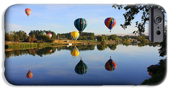Hot Air Balloon iPhone Cases - Balloons Heading East iPhone Case by Carol Groenen
